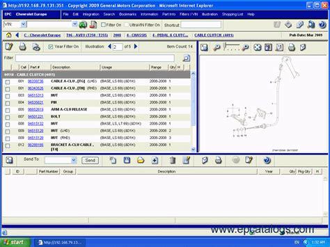 Spare Part Chevrolet chevrolet epc4 spare parts catalog cars catalogues