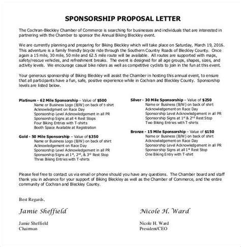 Formal Email Format For Sponsorship | sponsorship proposal letter template e4dai info e4dai info