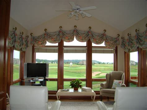 Sunroom Window Blinds Before And After Challenging Arched Window Valance A