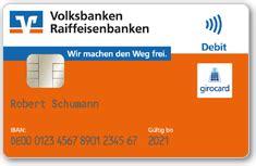 vr bank iban bankkarte vr bankcard v pay raiffeisenbank im allg 228 uer