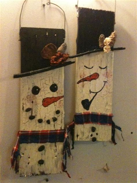 christmas decorations made from wood pallets welcome winter with wooden pallet snowman pallets designs