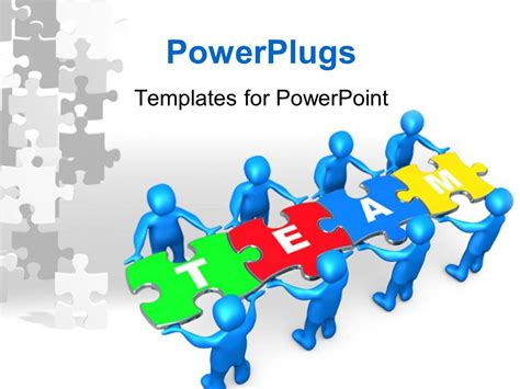 Powerpoint Template People Holding Pieces Of A Jigsaw Team Powerpoint Templates Free