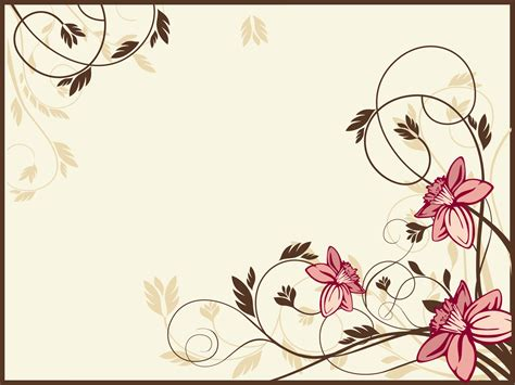 Vintage Flower Powerpoint Backgrounds Background Flowers Powerpoint Template