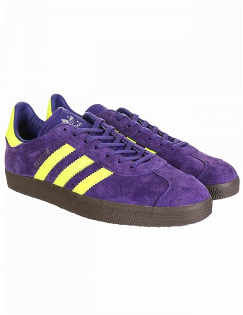 purple adidas sneakers adidas originals gazelle og shoes unity purple solar