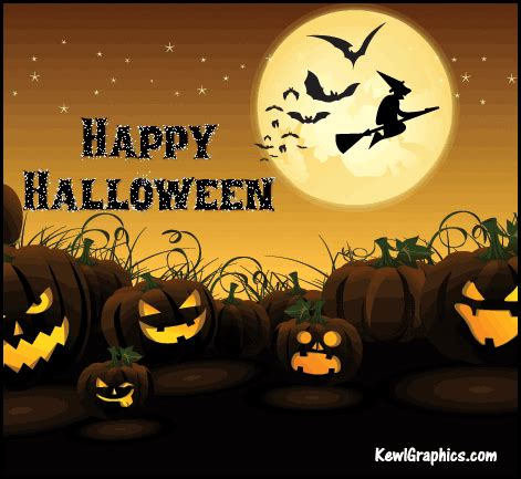 happy halloween animated witch bats graphic