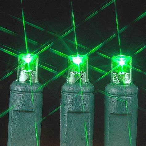 wide angle green 50 bulb led christmas lights sets 11 feet