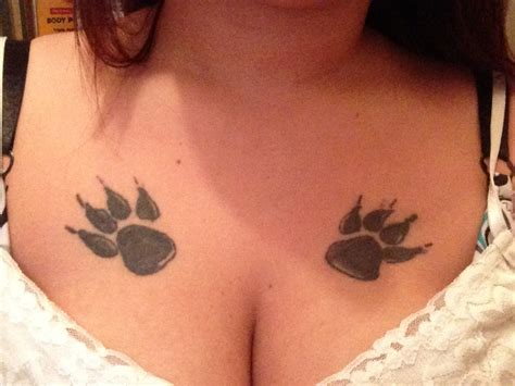 tattoo on breast paw print tattoos designs ideas and meaning tattoos for you