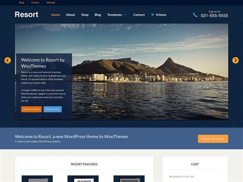page house resort a versatile wordpress business theme