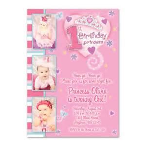 princess 1st birthday custom photo birthday invitation you print pixelperfectboutique