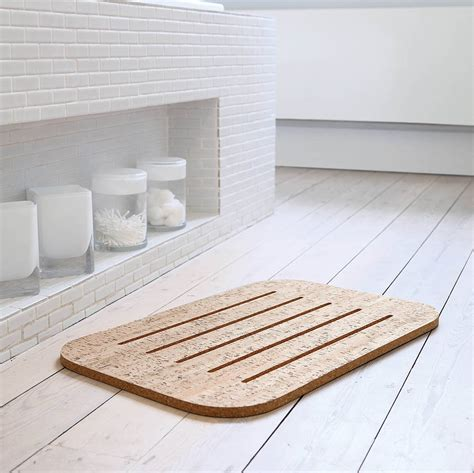 bathroom cork mat cork bath mat light cork by authentics