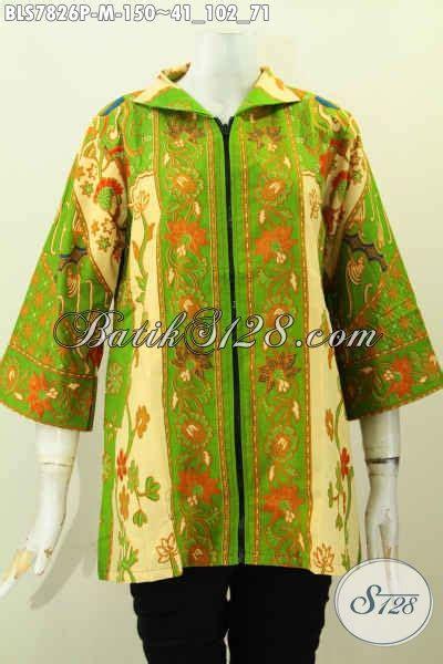 desain baju batik hijau blus batik printing hijau muda baju batik elegan desain