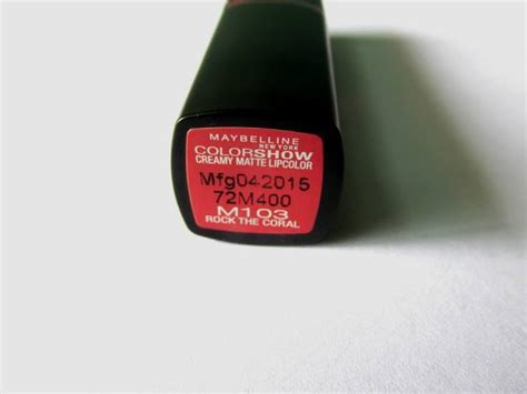 Maybelline Rock The Coral maybelline color show rock the coral matte lip color review