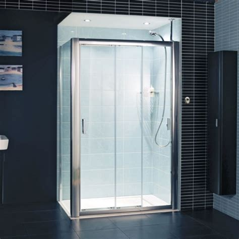three panel shower door embrace three panel sliding shower door