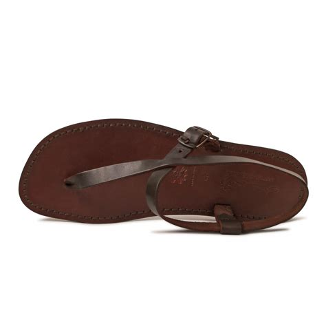 Leather Sandals Handmade - handmade brown leather sandals for gianluca