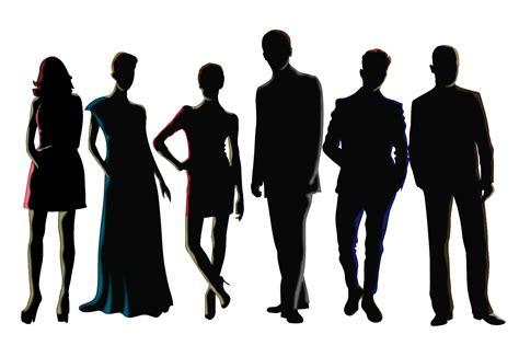 silhouette vector men and women silhouette vectors download free vector