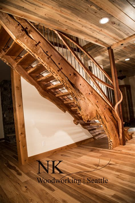 ocean side staircase designed   nk woodworking