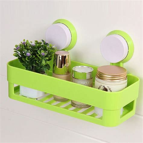 suction shelves bathroom plastic bathroom shelf kitchen storage box organizer