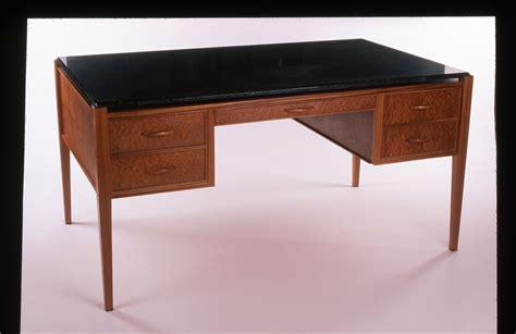 Custom Desk Tops by Custom Sapele Desk With Granite Top By Kirkpatrick Woodworks Custommade