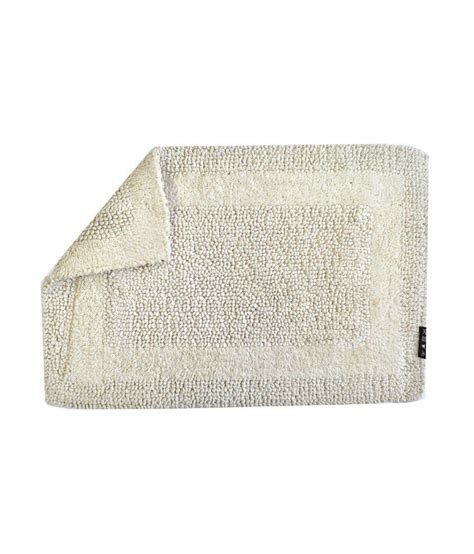 Reversible Cotton Bath Mats by Obsessions White Reversible Cotton Bath Mat Buy