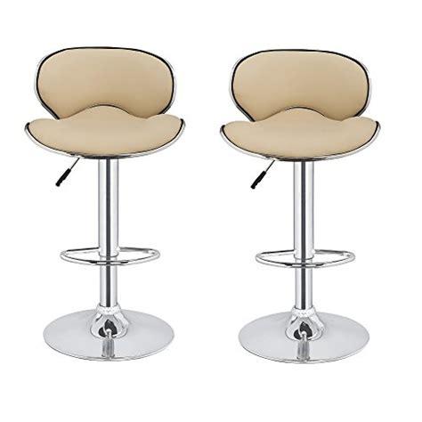 bar stools cream 2 x homegear m0 cherner adjustable swivel faux leather bar