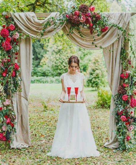 Wedding Arch Backdrop Ideas by 1001 Id 233 Es Pour Une Arche De Mariage Romantique Et 233 L 233 Gante