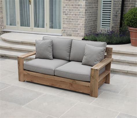 tuscan couch tuscan reclaimed two seater outdoor sofa