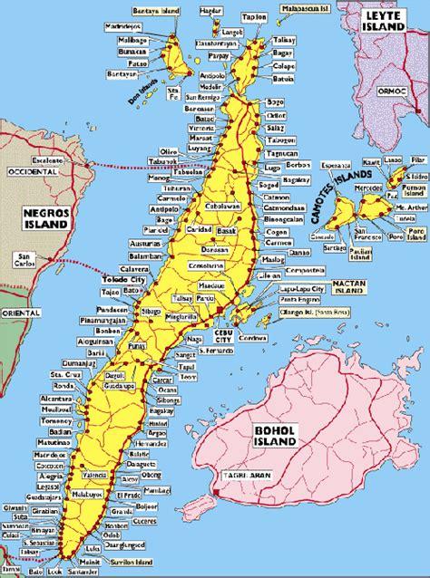 map  cebu philippines  travel information