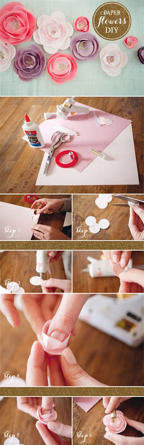 How To Make Flowers With Craft Paper - diy paper flower tutorial pictures photos and images for