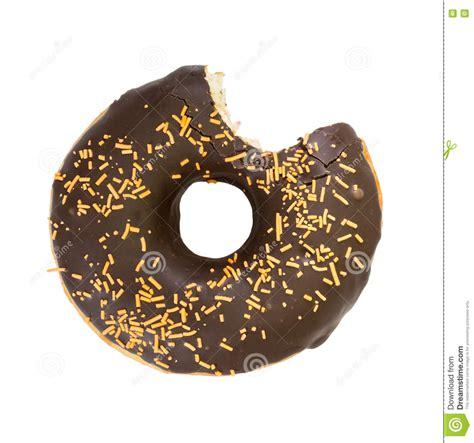 Donut Top bitten chocolate donut top view stock photo image 80975529