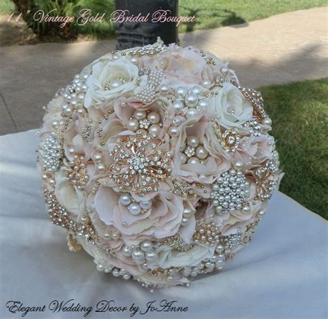 flower wedding brooches vintage gold bridal bouquet beautiful blush pink and gold bridal brooch wedding bridal bouquet