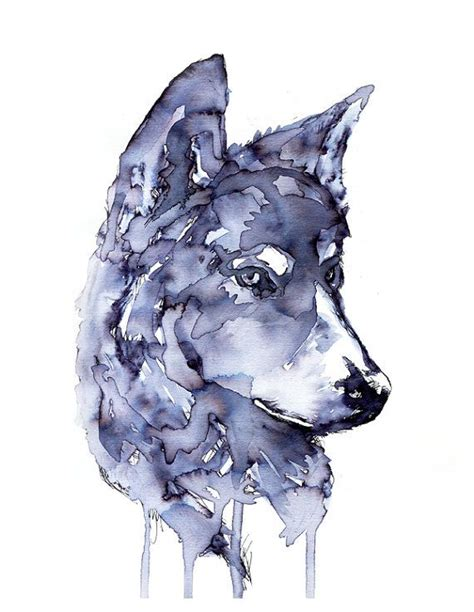wolf painting watercolour wolf like watercolour