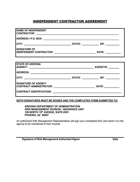 50 Free Independent Contractor Agreement Forms Templates Contract Template