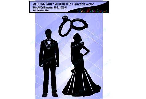 Wedding Vector Silhouette by Wedding Silhouette Svg Wedding Design Bundles