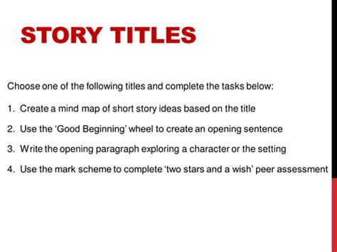 creative writing story titles by jamestickle86 teaching resources tes