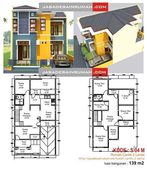 gambar layout fungsional denah rumah sederhana minimalis dua lantai images rumah