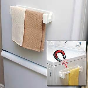 magnetic towel holder for fridge home kitchen kitchen dining kitchen utensils gadgets