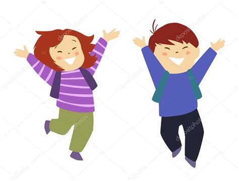 imagenes niños yendo ala escuela dos lindos ni 241 os yendo a la escuela vector de stock