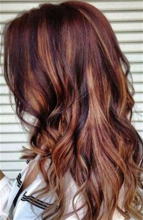 chocolate red hair on pinterest red blonde highlights red and brown hair with blonde highlights www imgkid com