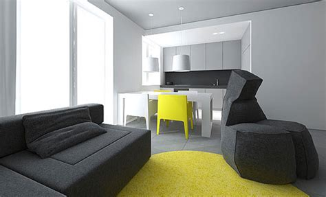 Interior For Small Flats by Modern Small Flat Interior Design By Tamizo Architects