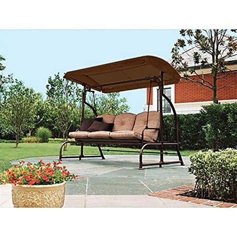 walmart 3 seater swing brown replacement canopy for walmart s sand dune 3 seater