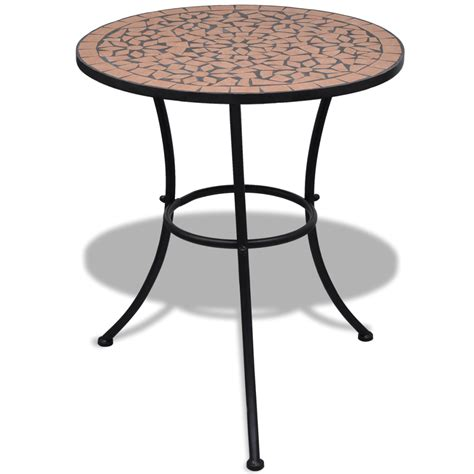 Mosaic Bistro Table Vidaxl Co Uk Vidaxl Mosaic Bistro Table 60 Cm With 2 Chairs Terracotta