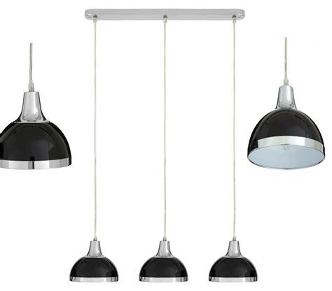 Hanging Bar Pendant Lights 3 Bar Pendant Light Hanging Chrome Effect 3 Way Mounted Ceiling Lighting Retro Ebay
