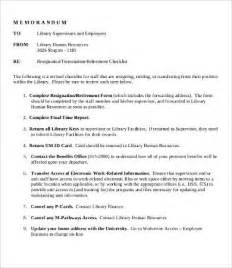 resignation checklist template resignation checklist template 8 free word pdf
