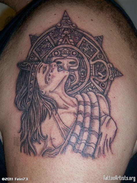 aztec girl tattoo awesome aztec