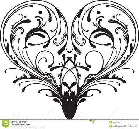 filigree heart tattoo designs ornate stock vector image of fancy emblem