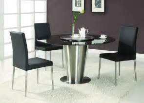 Dining Table Set Contemporary Modern Exclusive Marble Top Leather 5 Dining
