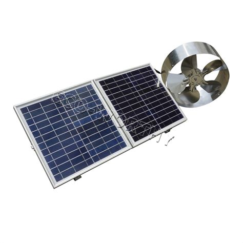 solar powered roof fan new 25w solar powered attic ventilator gable roof vent fan