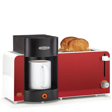 red small kitchen appliances bella toast brew breakfast station red appliances