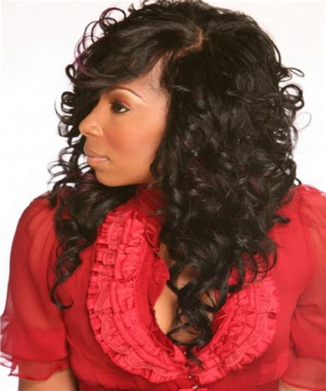 curly weave bang curly weave hairstyles with bangs