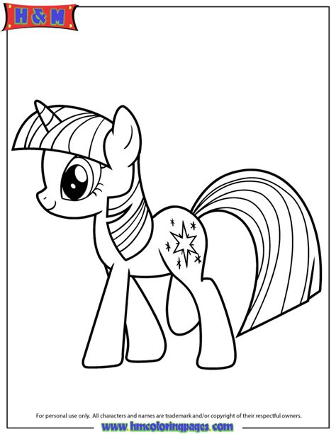 Hasbro My Little Pony Twilight Sparkle Coloring Page H My Pony Twilight Coloring Pages
